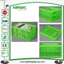 Plastic Foldable Crate for Book Storage