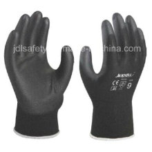 Black Work Glove with PU Palm Coated (PN8003)