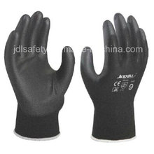 Black Work Glove with PU Palm Coated (PN8003)