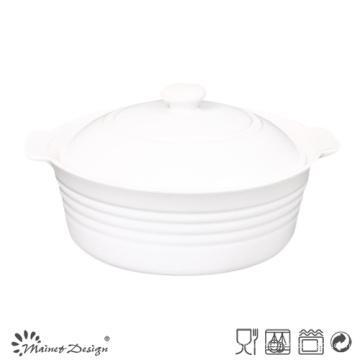 Tazón de sopa redondo con tapa