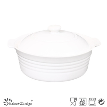 Round Soup Bowl with Lid