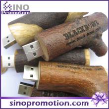Werbungs-hölzerner Bauholz-Stapel-Brown 64GB USB-Blitz-Antrieb