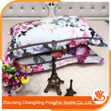 New design elegant flower printing polyester china bedsheet