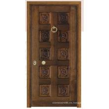 Puerta de acero inoxidable blindada puerta de la habitación de China (C3011)