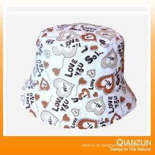 Chapéu de balde de lã com etiqueta personalizada