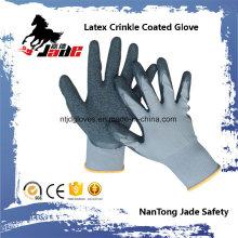13G Nylon Palm Latex Crinkle Coated Industrial Glove