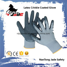 13G Nylon Palm Latex Crinkle Coated Industrial Luva