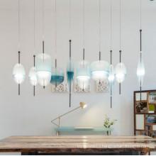 Nordic post modern creative glass lamp suspension chandelier pendant lamp