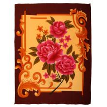 Большие Цветы Плоской Печати Одеяло Ватки