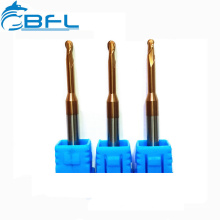 BFL Carbide Long Neck Short Flute Ball Nose End Mills Milling Cutters