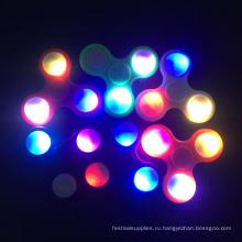 Светодиодные блесны алюминий подшипник ВДГ игрушки ручная вертушка
