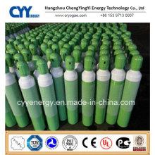 ISO9809 Cylindre de gaz à dioxyde de carbone à combustion artificielle à haute pression en acier inoxydable