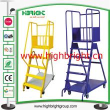Подвижной стальной склад шаг лестницы корзину