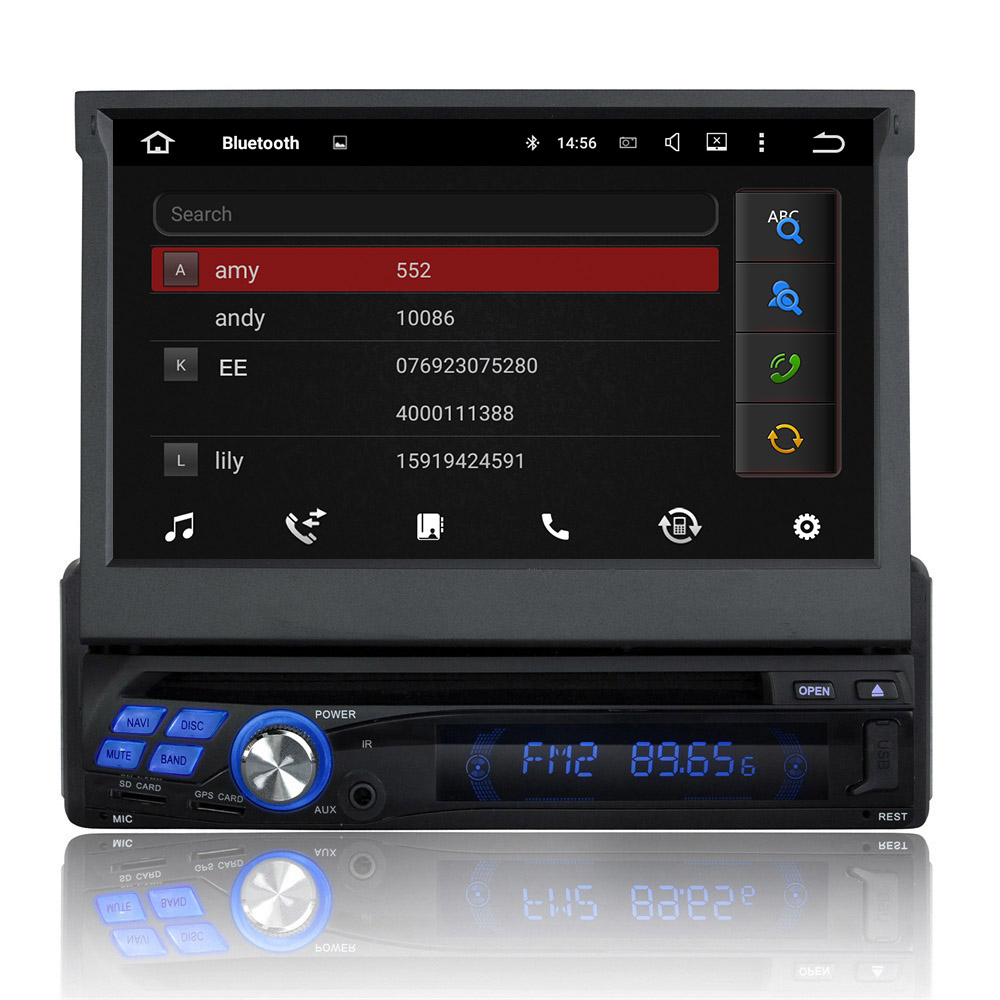 7 inch single din universel autoradio dvd