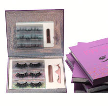 SL013H Hitomi High Quality Mink Eyelashes soft natural mink eyelashes Fluffy 25mm Magnetic Eyelashes with Eyeliner and tweezers
