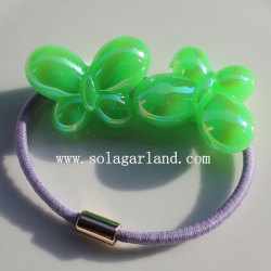 Beautiful Plastic Multi AB Colors Butterfly Rubber Hair band Ties