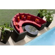 Ensemble de Sofa Indoor Outdoor Design bon PE en osier