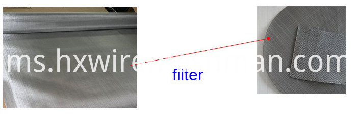 application of black filter cloth