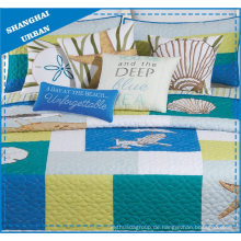 Sea Impression Printed Polyester Patchwork Quilt