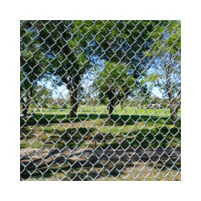 ASTM A392 standard chain link fence with 610g zinc coated for commercial