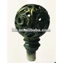 D19mm антикварные латуни железа окна занавес стержень мяч конца finial для домашнего декора, сделанные в Китае