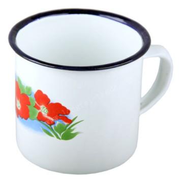 Blue Rimmed Plain Enamel Decal Enamel Mug Cup