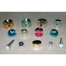 Plastic cream cosmetic plated cap for soft tube