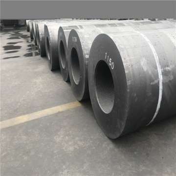 UHP500mm graphite electrode with nipples for steel smelting