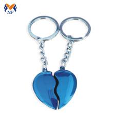 Metal broken heart shape keychain clasp