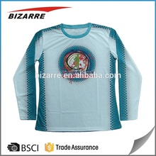 Customized long sleeve running event merchandise , sublimation t-shirt