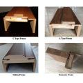 Sicherheit American Design Interior Teak Furnierte Holz Haupttür (SC-W111)