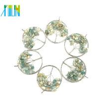 Arbre de la vie ronde forme bijoux en gros pendentifs Inde Agate Druzy