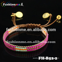 2015 handmade popular leather beaded wrap bracelet