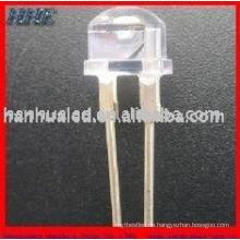 8mm 0.25w 60mA 18-20LM Kopf Strohhut 2 Chips Tunnel Licht LEDs