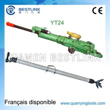 High Performance Underground Pneumatic Yt24 Pusher Leg Rock Drill