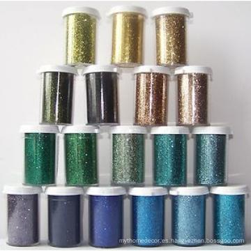 Polvo de glitter, plata brillante