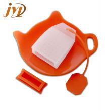 Conjunto infusor de té de siicone de hojas sueltas