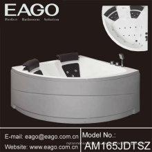 Угол акрилового массажа водоворота ванны/ ванны с съемный юбка