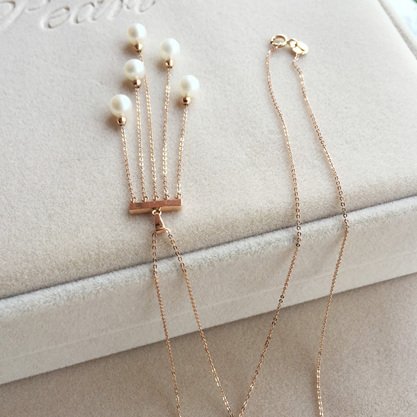 Tassel Pendant Natural Pearl Necklace