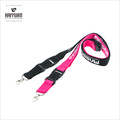 10PCS/Pack Stock Colors ID Card Neck Strap Lanyard with Black Plastic Clasp