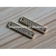 hot selling clothing accessory custom made gold engraved metal label logo charms