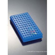 Racks Reversíveis Polyproyplene de 96 poços para Microtube