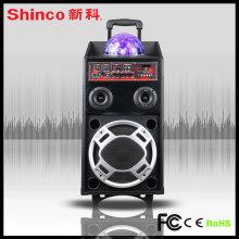 Alto-falantes estéreo Bluetooth LED para Karaoke