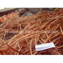 Sucata de fio de cobre Millberry 99,9 com boa qualidade