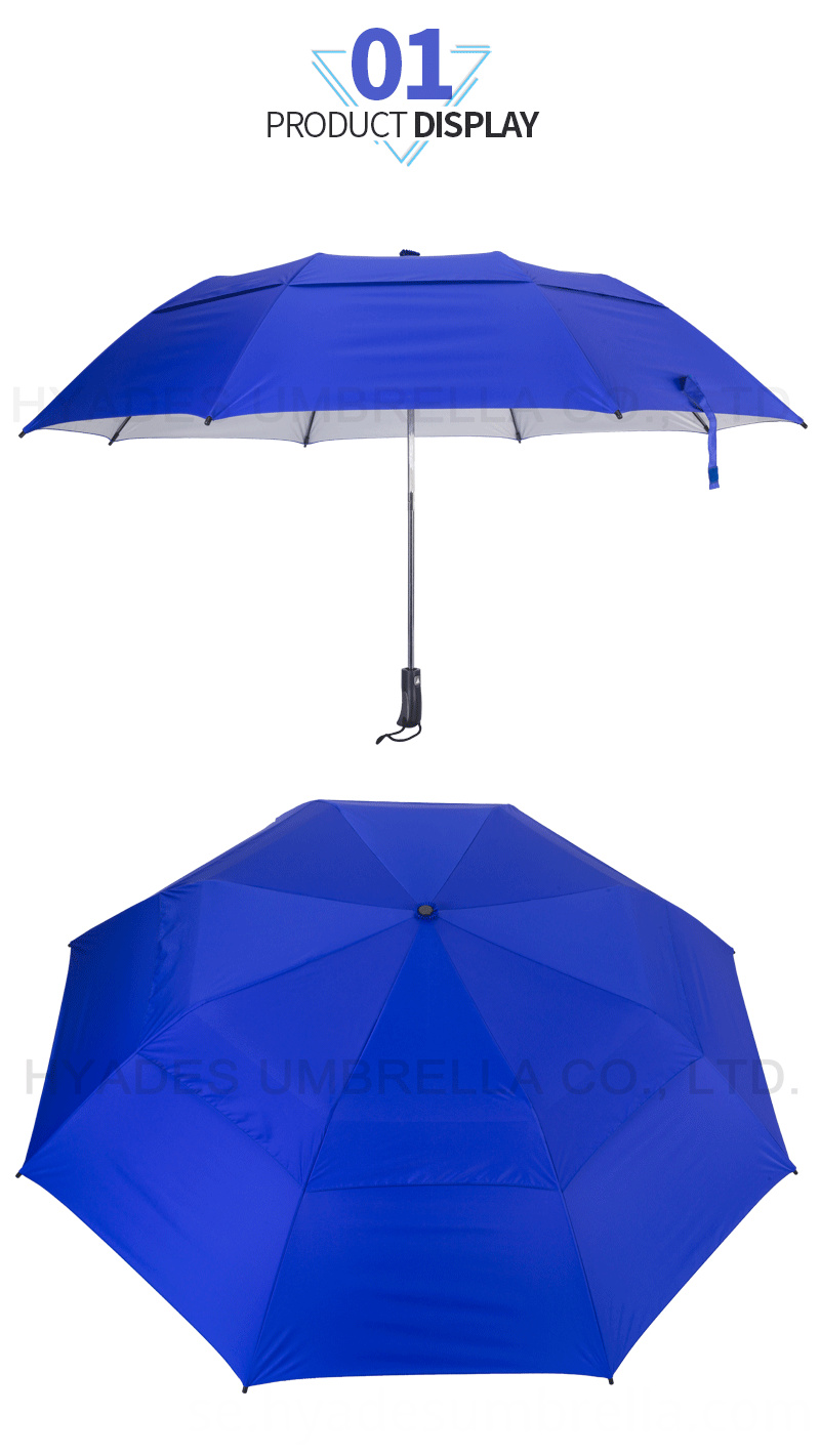 Big Size Vented Folding Golf Umbrella