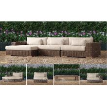 BORA BORA - Neue Kollektion UV-Beständigkeit Wicker PE Rattan Outdoor Living Sofa Sets für Gartenmöbel