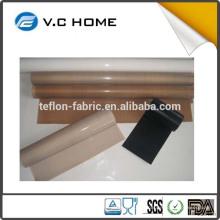 Vente en gros de bobines de tissus à haute température couleur naturelle tôle de téflon ptfe