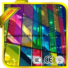 Cheap 4-19mm Colored Tempered Reflective Glass Price with CE / ISO9001 / CCC