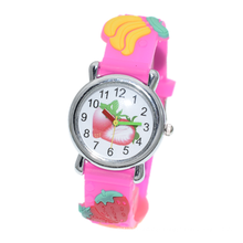 Childrens Watches Waterproof 3D Cute Cartoon Toy Analogue Silicone Band Girls Watch Set