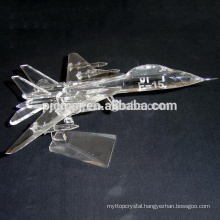 Crystal aircraft model for souvenir